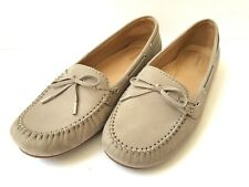 Sebago Women's Harper Tie Driving Loafers Moccasins Ballet Flat Nubuck Beige 9