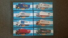 CORGI SUPERHAULERS SPEC EDITION VOLVO F10 BOX TRAILERS - COMPLETE SET OF 8 TRUCK