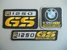 PATCH BMW R1250 GS GIALLO EXCLUSIVE PZ 3 RICAMATE TERMOADESIVE-REPLICA-COD. 389