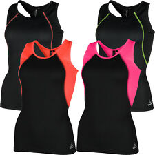 New Ladies Breathable Vest Wicking Womens Cool Dry Running Gym Sports Tank Top