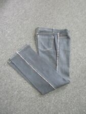 BURBERRY LONDON Blue Flat Zip Front Nova Piping Bootcut Jeans Sz 10 EE6791