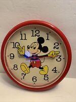 Vintage Walt Disney Mickey Mouse Moving Arms Clock Lorus Quartz