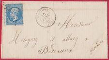 Marque postale Landes Lettre FRANCE N°22 obl GC Sur LSC Indice 6