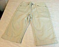 Christopher & Banks Petite Size 4P Tan Bermuda Shorts/Capri Stretch Cuffed