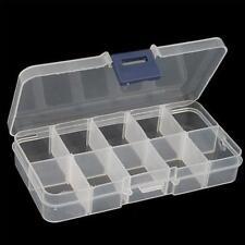 Trendy Design Empty Storage Case Box 10 Cells for Nail Art Tips Gems FT