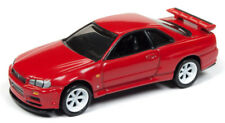 1/64 JOHNNY LIGHTNING CLASSIC GOLD 1999 Nissan Skyline GT-R (R-34) in Active Red