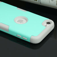 Shockproof Impact Armor Hard&Soft Rubber Hybrid Case for iPod Touch 5th/ 6th Gen