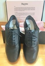 Zizi Oxford Repetto Black Leather Shoes France Size 8 EU 41