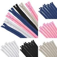 "50pcs 9"" 12"" 16"" Nylon Coil Zippers Bulk OPEN END Zipper for Tailor Sewing Craft"