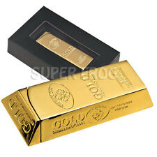Gold Bar Lighter Butane Gas Metal Cigarette Cigar Christmas Xmas