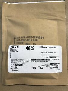 50 New TE Connectivity/AMP 320559 PIDG Nylon Window Splice Wire Size 22-18