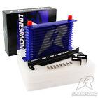 Universal An10 13 Row Enginetransmission Oil Cooler Mounting Bracket Kit Blue
