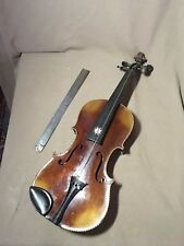 Antique Folk Art Full Size Mother Of Pearl Shell Inlay Gypsy Violin