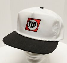 Vtg TIP Trailer Trucking Rope Braid Leather Strap Hat Cap Made in USA Graffiti