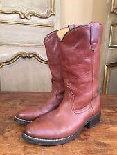 Vintage Custom ACME Men's Western Cowboy Motorcycle Boots Size 8 EW 1970's