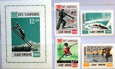 ALBANIA ALBANIEN 1963 798-01 Block 21 706-09a Olympics 1964 Innsbruck Skiing MNH