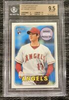 2018 Topps Heritage 17 Shohei Ohtani Action SP RC Rookie *BGS 9.5 GEM MINT
