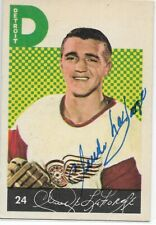 CLAUDE LAFORGE  Authentic Signed Autograph 1963 PARKHURST Red Wings Hockey Card