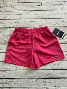 Womens ASICS Pocketed 5 inch Training Running Tennis Shorts Pink WS2577 Size XS