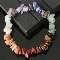 7 Chakra Stone Healing Balance gravel Bracelet Lava Yoga Reiki Prayer Women