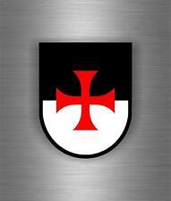 Sticker car biker maltese shield airsoft decal crusader cross templar knights F