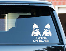 Twins On Board Twins Baby Child Window Bumper Car Sign Decal Sticker