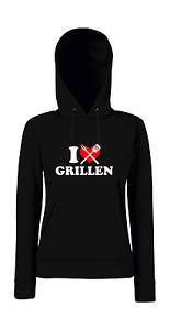 I love Grillen Girlie Kapuzenpullover