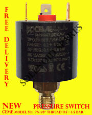 "PRESSURE SWITCH by ceme 5611 PN 1/8"" thread 0.5 - 4.5 BAR for air/water/steam"