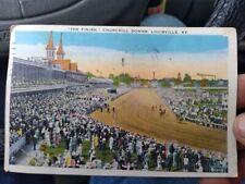 Vintage 1936  Churchill Downs Kentucky Derby POSTCARD  Horse racing