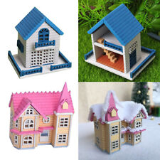 DIY Mansion Double Attic Doll House W. Furniture 1/12 Fairy Cottage 2Set