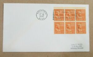 """CLEAR SLOGAN COVER on a bed of Sc#803s""""1958 75th AINSWORTH-BROWN CO."""" See Pic"""
