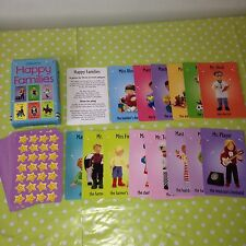 HAPPY FAMILIES Children's Card Game (LARGER CARDS) BY USBORNE Collectable 2004