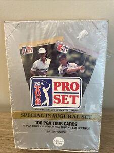PGA Golf Pro Set Tour Cards Inaugural Box NEW Collectible 100 Cards