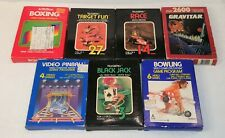 LOT OF 7 ATARI 2600 VIDEO GAMES WITH BOX AND MANUAL + TESTED + FREE SHIPPING