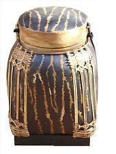 Gde boite à riz - cache pot / rangement - artisanat bambou zébrée 45cm