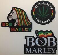 Bob Marley Jamaica Reggae Patch Patches~4 Versions~One Love~Rasta Flag~Iron Sew