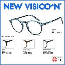 Occhiali da Lettura Graduati per Presbiopia Anti Luce Blu - Rotondi - NEWVISION®