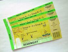 ICC WORLD CUP CRICKET MEMORABILIA - Ticket(s) New Zealand V Zimbabwe 06/06/99