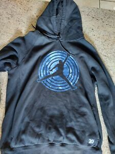 Distressed Air Jordan Sweatshirt Mens L Space Jam 20th Anniversary Hoodie