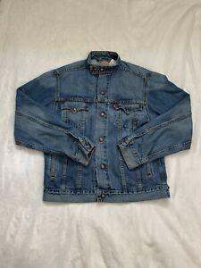 Levis Mens Easy Rider Blue Denim Jacket Size Medium Snap On