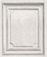 Wallpaper Rasch- Luxury Vintage Wood Panel - Faux Door Pattern - In White 524444