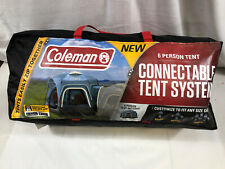 Coleman 2000033606 12 Foot x 10 Foot 6-Person Fast Pitch Connectable Tent, Blue