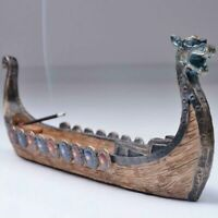 Dragon Boat Incense Burner Stick Holder Hand Carved Craft Censer Home Decoration