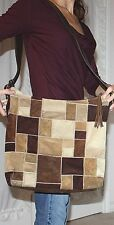 COACH Rare Authentic $400+ Legacy Large Patchwork Brown Purse Bag GUC Leather NR