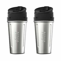 Ninja Stainless Steel Nutri Ninja Cup Sip & Seal Lid for Auto-IQ Series (2 Pack)