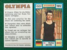 OLYMPIA 1972 n.52 Walter BATHE GERMANIA , Figurina Sticker Panini (NEW)