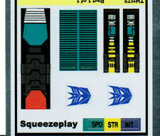 TRANSFORMERS GENERATION 1, G1 DECEPTICON SQUEEZEPLAY REPRO LABELS / STICKERS
