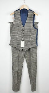 SUITSUPPLY BRADDON Men UK38R Wool Cashmere Waistcoat And Trousers Suit 15466