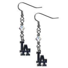 MLB Los Angeles Dodgers Crystal Dangle Earrings Set J Hook Charm Jewelry