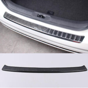 Black Outer Rear Bumper Sill Plate Protector Trim For Nissan Altima 2019-2021